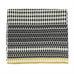 Harlequin Array Charcoal Knitted Throw