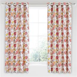 Helena Springfield Fay Coral Curtains