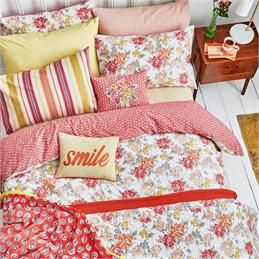 Helena Springfield Fay Coral Duvet Cover Set