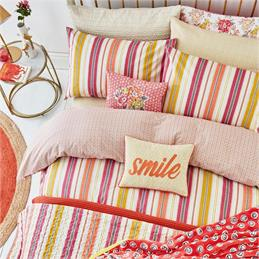 Helena Springfield Melody Coral Duvet Cover Set