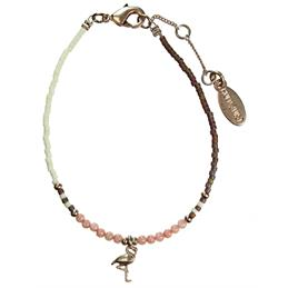 Hultquist Rose Gold Flamingo Multicolour Bracelet