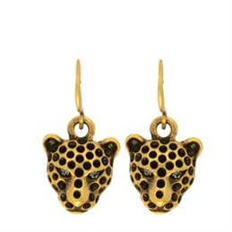 Hultquist Leopard's Head Earrings