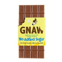 Gnaw No Added Sugar Milk Chocolate Bar
