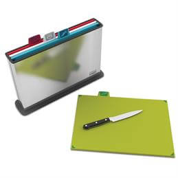Joseph Joseph Index Colour Coded Chopping Board Set With Steel Case