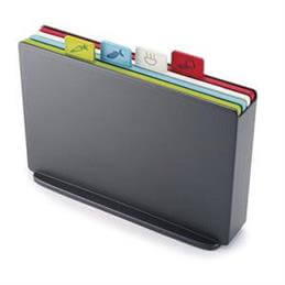 Joseph Joseph Index Large Colour Coded Chopping Board Set: Graphite