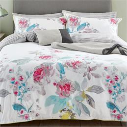 Joules Bright White Beau Bloom Quilt Cover
