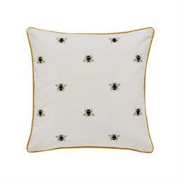 Joules Chinoise Floral Yellow Cushion