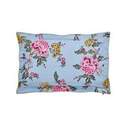 Joules Chinoise Floral Frozen Blue Oxford Pillowcase
