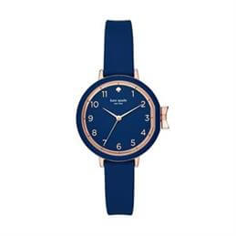 Kate Spade New York Navy Silicone Park Row Watch