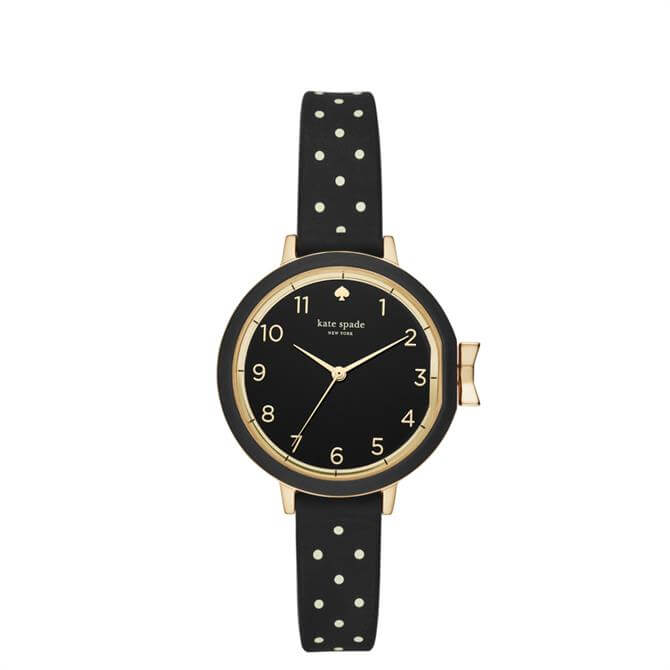 Kate Spade New York Gold Tone and Dot Silicone Park Row Watch