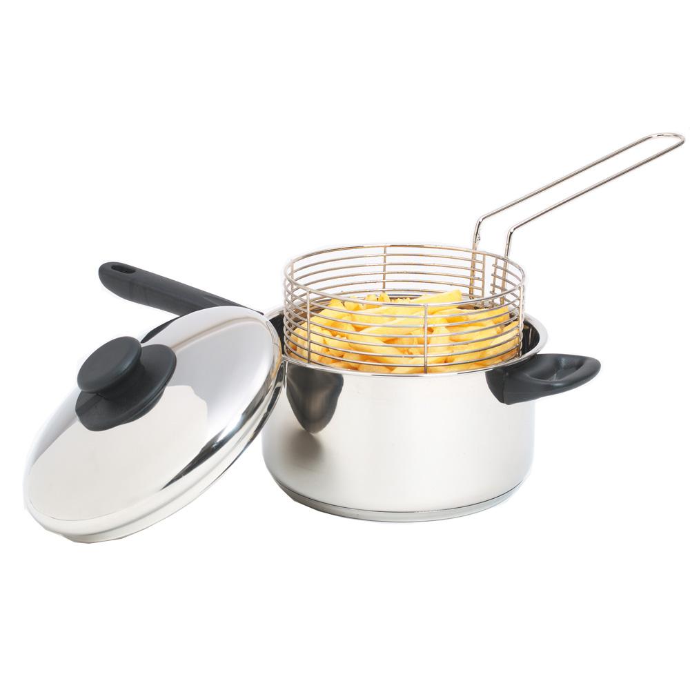 Kitchen craft chip fryer basket stainless steel for Kitchen craft cookware prices