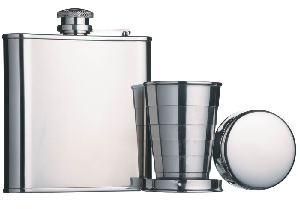 Kitchen craft bar craft stainless steel 165ml hip flask for Kitchen 17 delivery