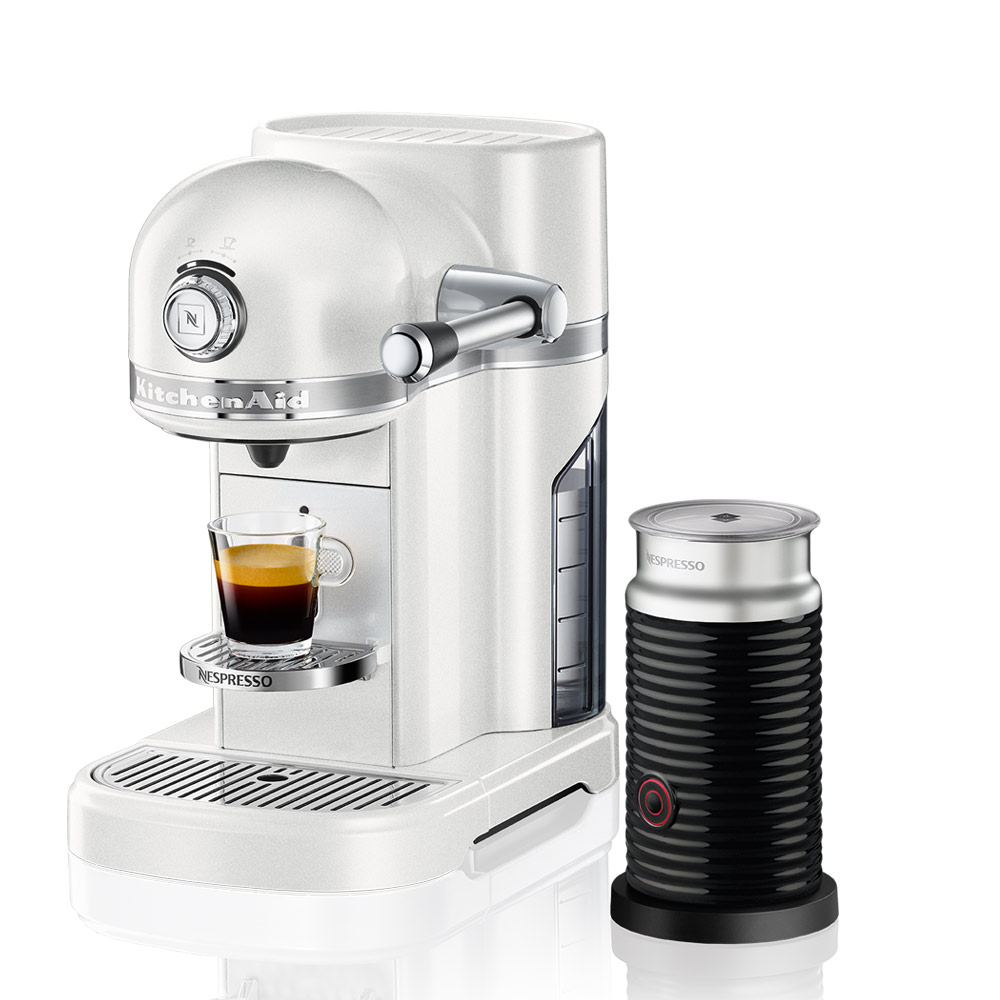 Kitchenaid nespresso coffee machine with milk frother for Kitchen 17 delivery