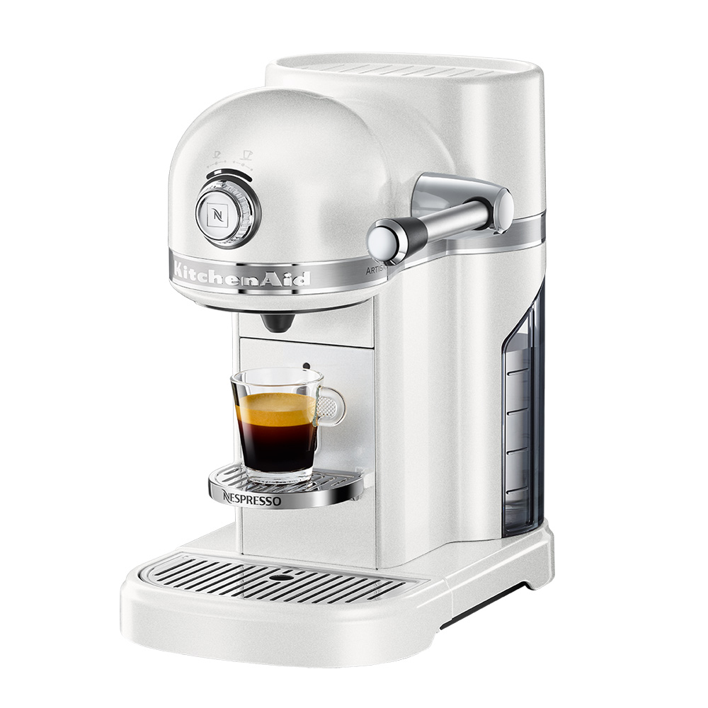 Kitchenaid nespresso coffee machine frosted pearl for Housse kitchenaid