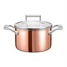 KitchenAid 3 Ply Copper 5 Litre Low Casserole