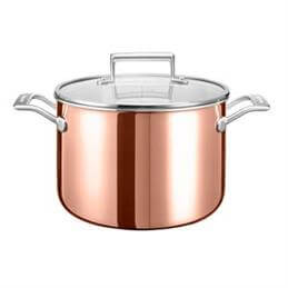KitchenAid 3 Ply Copper 7.6 Litre Stockpot
