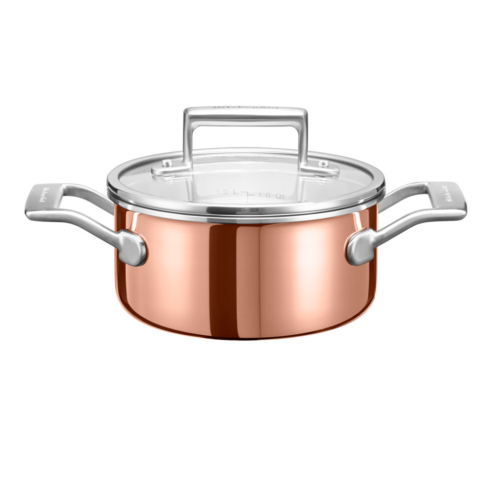 Kitchenaid 3 Ply Copper Saucepan Jarrold Norwich