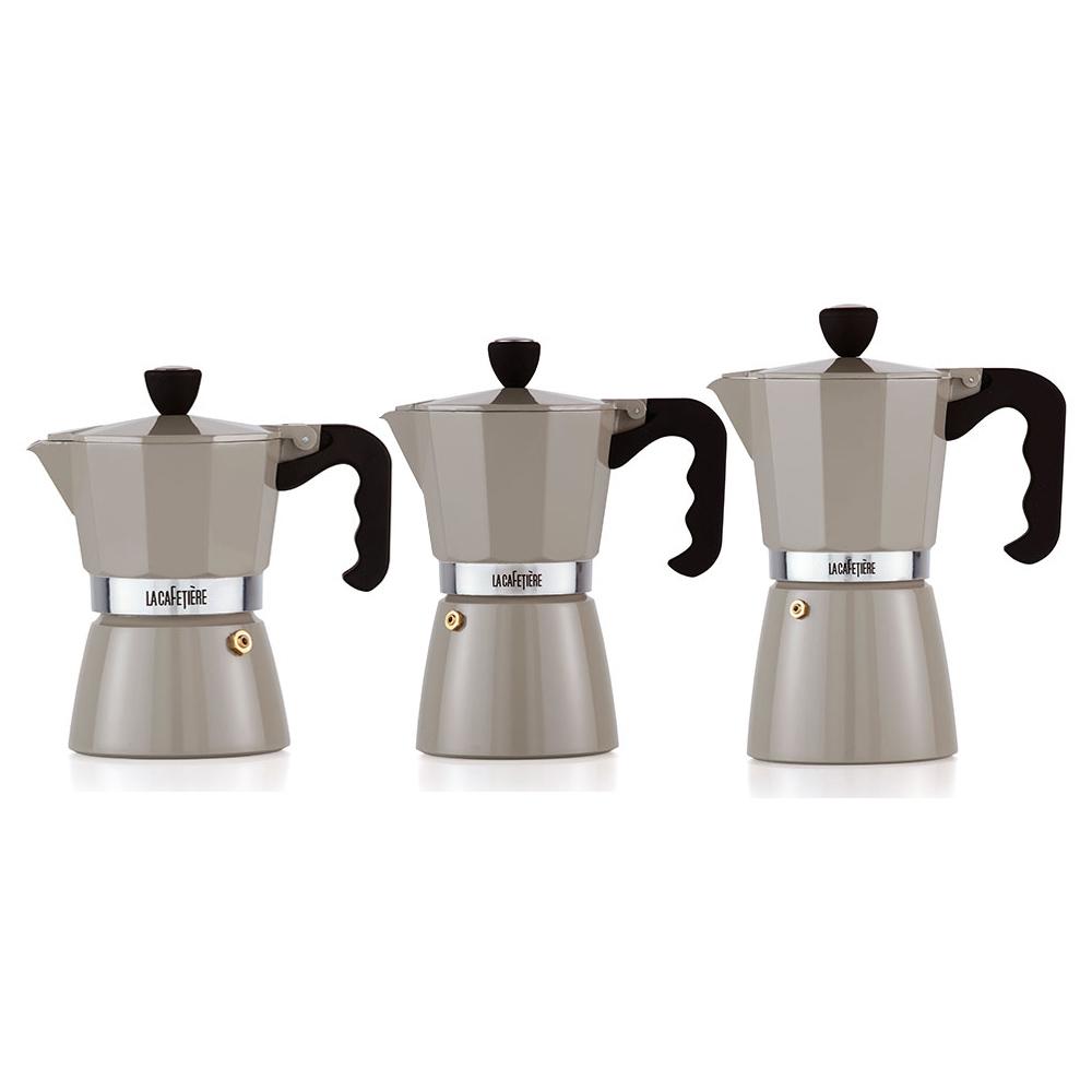 la cafetiere warm grey classic espresso maker jarrold. Black Bedroom Furniture Sets. Home Design Ideas