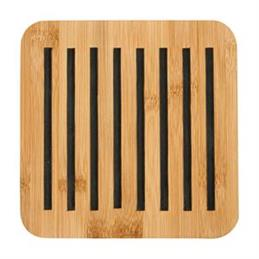 Ladelle Classic Square Bamboo 17cm Trivet: Charcoal