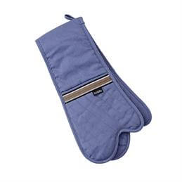 Ladelle Professional Series ll Double Oven Mitt: Dusky Blue