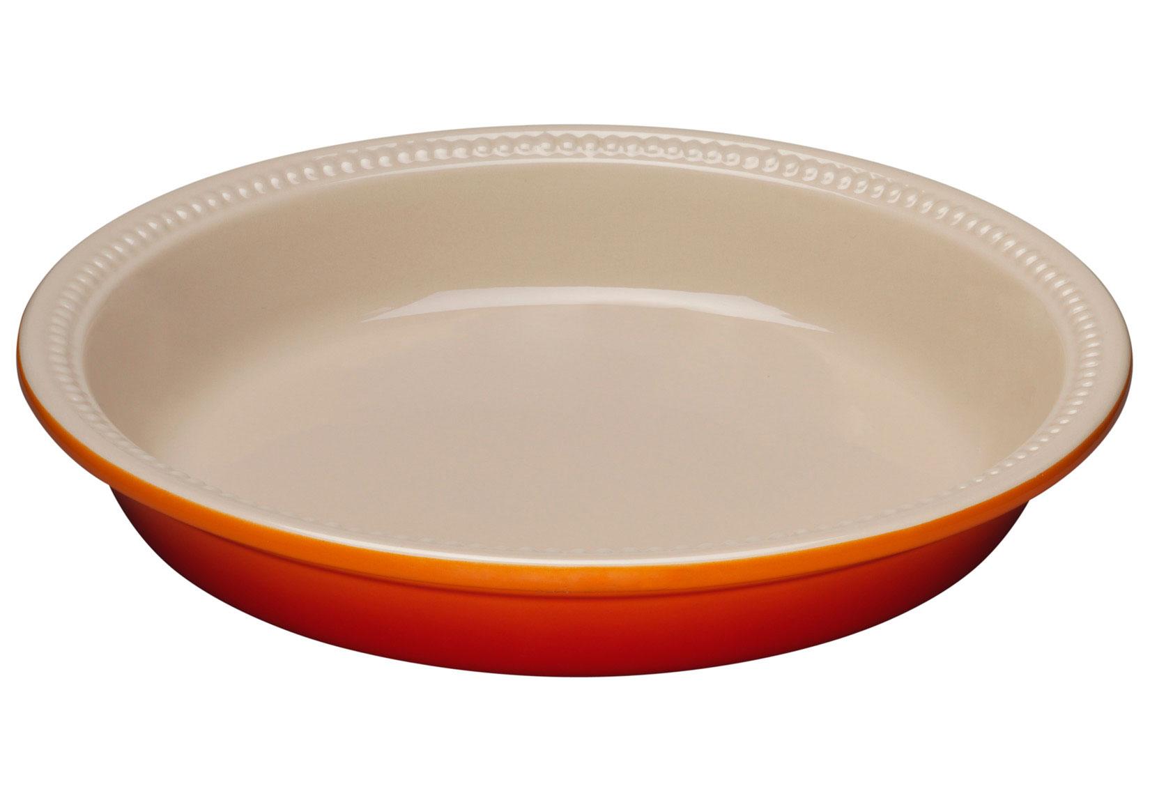 Le Creuset 24cm Stoneware Pie Dish - Volcanic | Jarrold ...