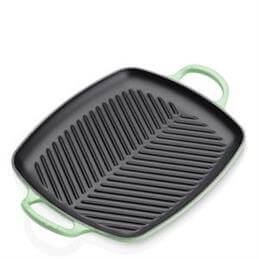 Le Creuset Rosemary Cast Iron Signature Rectangular Grill 30cm