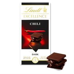 Lindt Excellence Chilli Intense Dark Chocolate Bar 100g