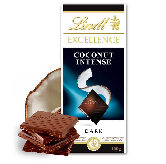 Lindt Excellence Coconut Intense Dark Chocolate Bar 100g