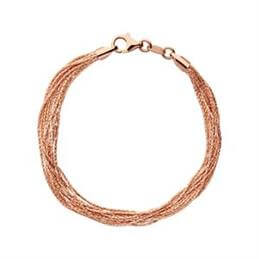 Links of London Essentials Silk 18kt Rose Gold Vermeil 10 Row Bracelet