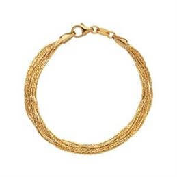 Links of London Essentials Silk 18kt Yellow Gold Vermeil 10 Row Bracelet