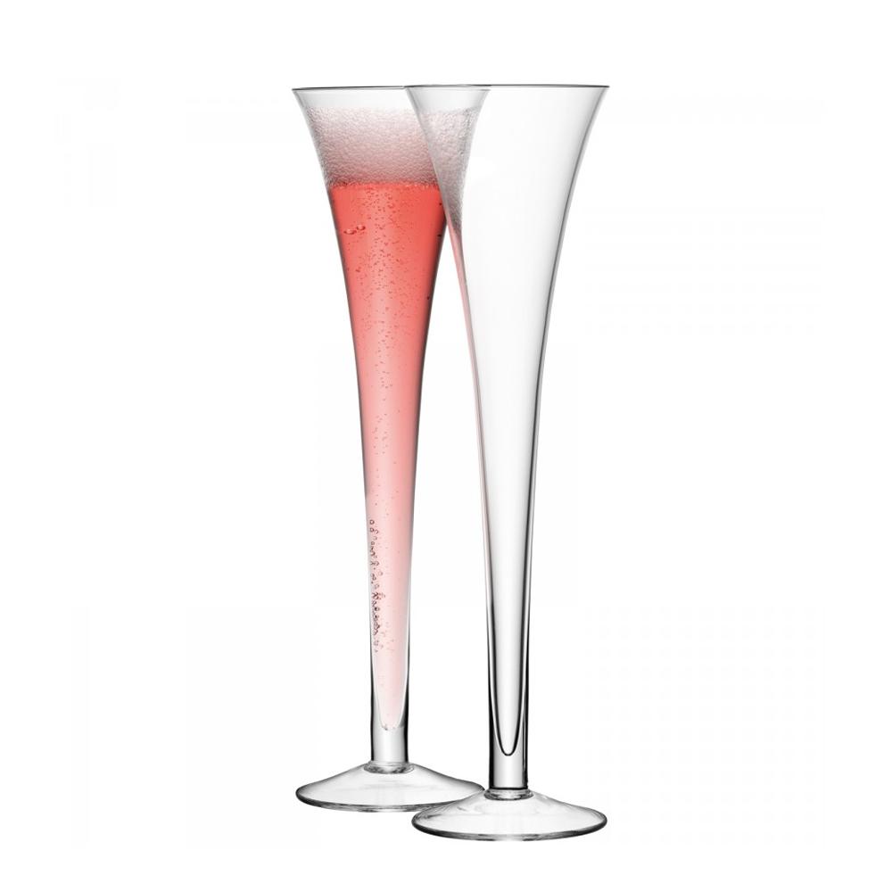 Lsa bar set of 2 hollow stem champagne flute jarrold norwich - Champagne flutes hollow stem ...