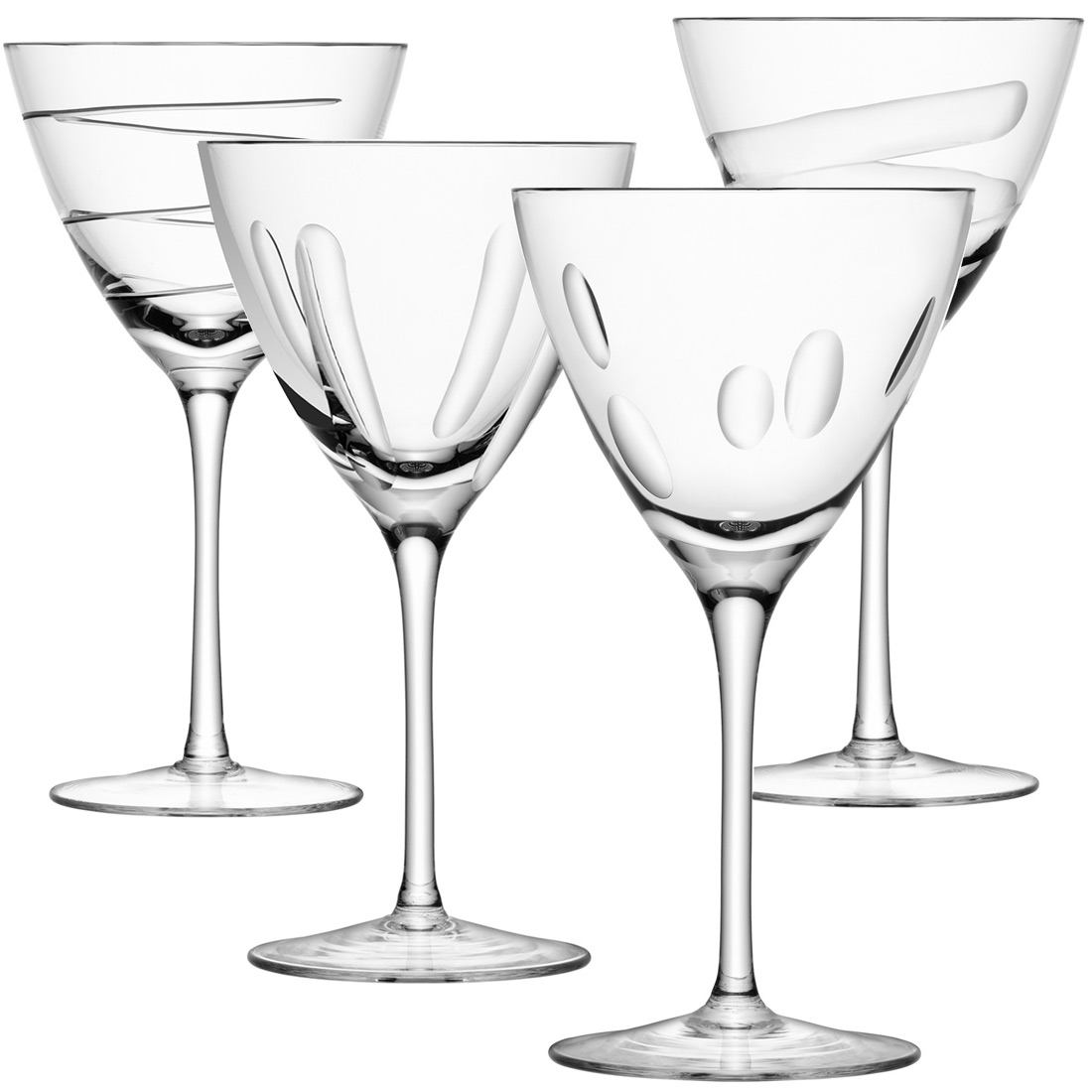 Lsa charleston set of 4 wine glasses jarrold norwich Unusual drinking glasses uk