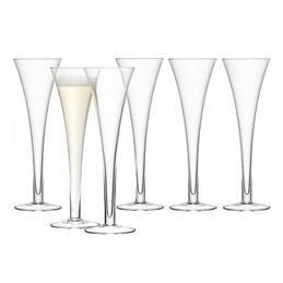 LSA Bar Hollow Stem Champagne Flutes: 6 For The Price Of 4