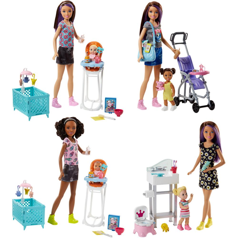 mattel barbie babysitter playset assorted dolls accessories