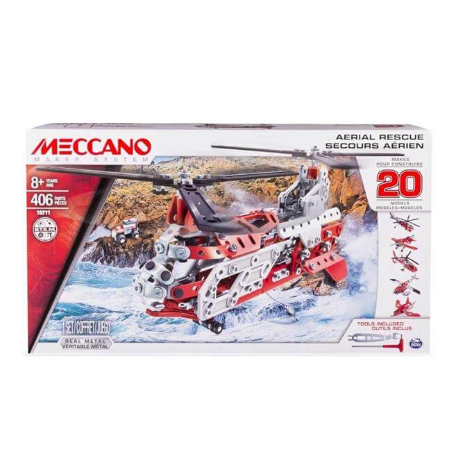 Meccano 20-in-1 Model Aerial Rescue Set