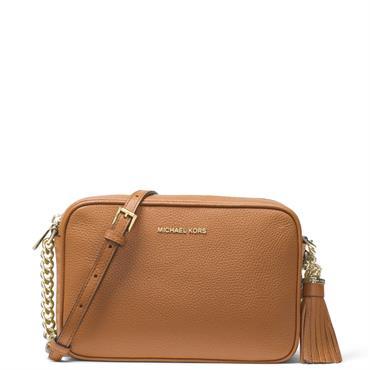 0178eee3a8c2 ... Michael Michael Kors Ginny Acorn Leather Crossbody Bag