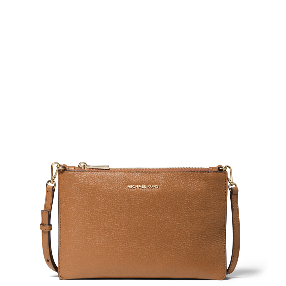 87711aa550ff Michael Michael Kors Large Pebbled Leather Double Pouch Crossbody ...