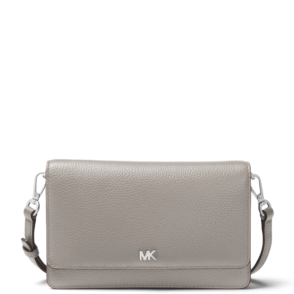 4e4cc62ed68536 Michael Michael Kors Pearl Grey Pebbled Leather Convertible Crossbody Bag |  Jarrold, Norwich