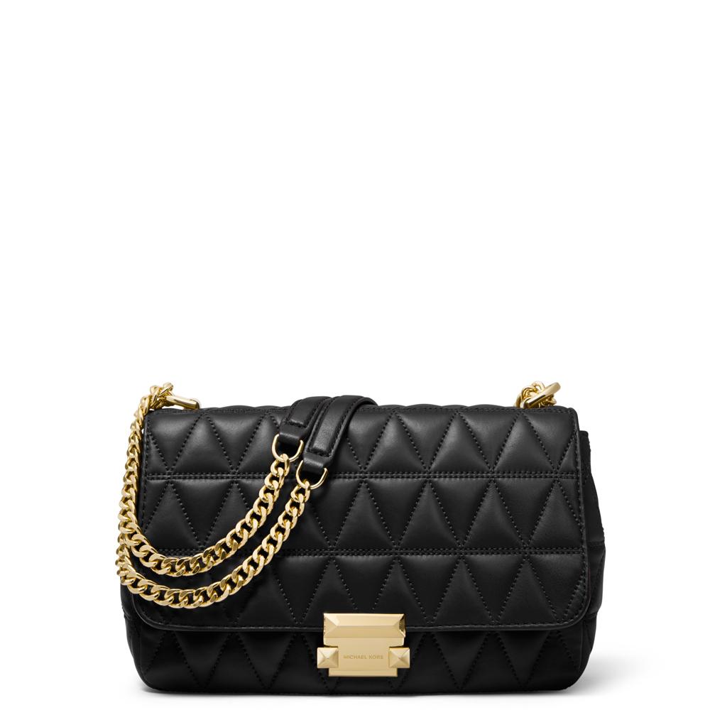3739f241c8ae Michael Michael Kors Black Sloan Large Quilted Leather Shoulder Bag ...