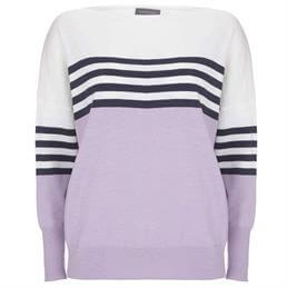 Mint Velvet Colour Block Striped Jumper