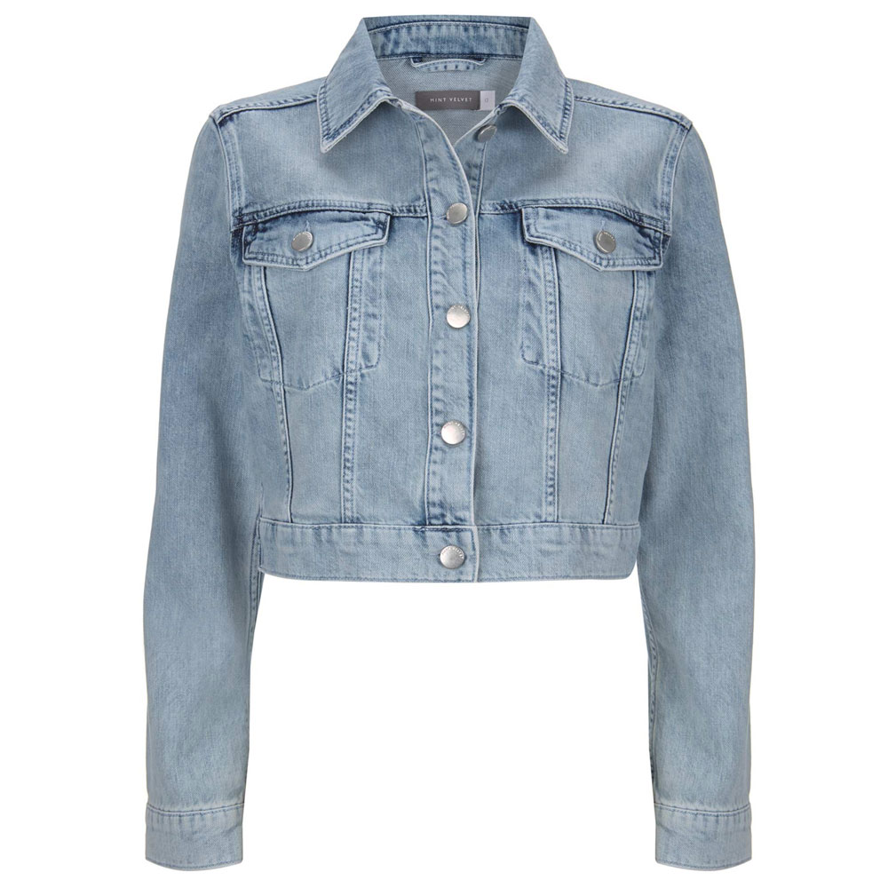 3f96a2eb4404d Mint Velvet Cropped Acid Wash Denim Jacket | Coats & Jackets | Coats &  Jackets | Jarrolds Norwich, Norfolk