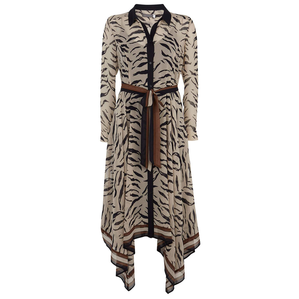 eecf3cb7b1e1b6 Mint Velvet Ecru Nadine Print Shirt Dress