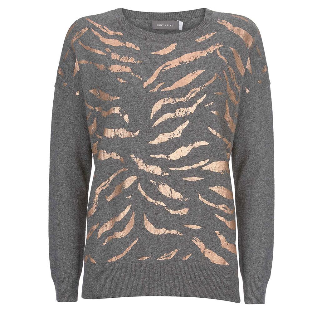 de300c5a4ec0 Mint Velvet Granite Animal Foil Print Jumper | Knitwear | Knitwear |  Jarrolds Norwich, Norfolk