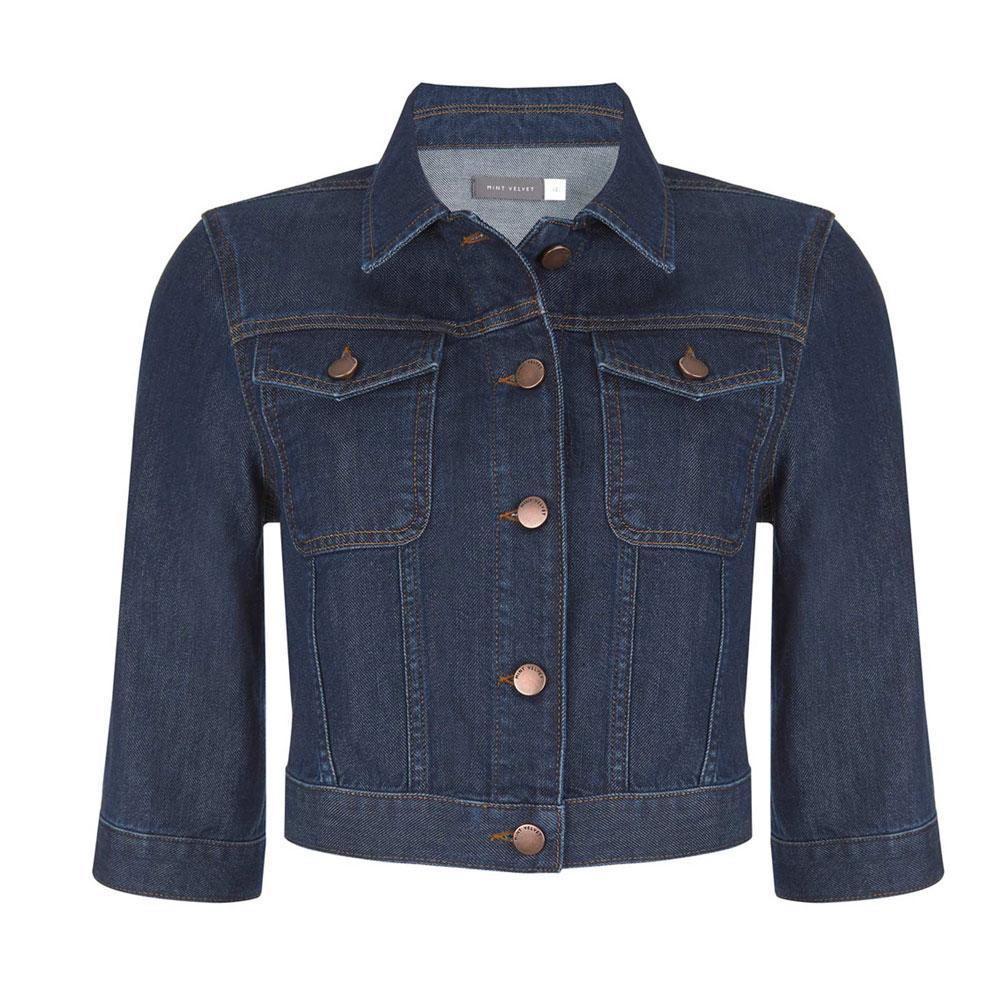 bff797485ab71 Mint Velvet Indigo Cropped Denim Jacket | Coats & Jackets | Coats & Jackets  | Jarrolds Norwich, Norfolk