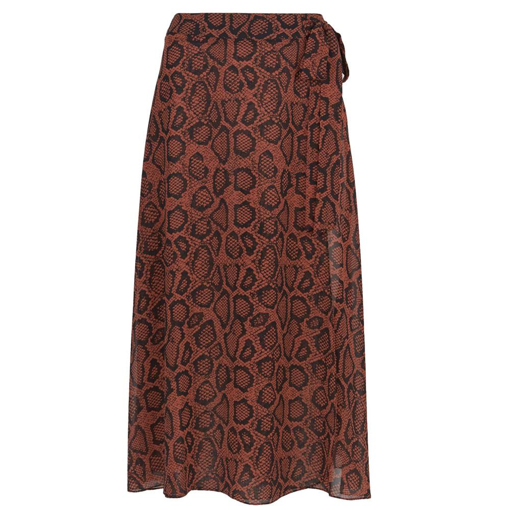 0a7be7363e Mint Velvet Molly Animal Print Wrap Skirt