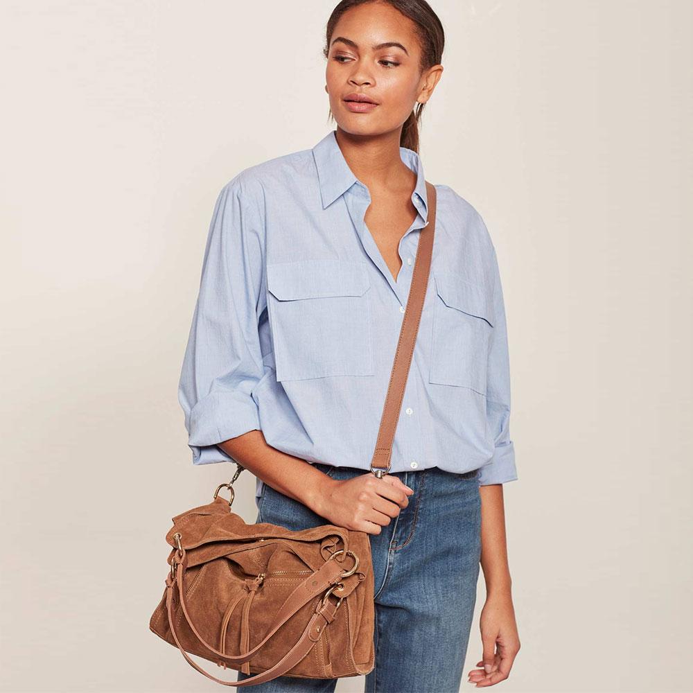 2ecd07bf042d91 Mint Velvet Nelly Tan Suede Slouch Tote Bag   Handbags & Purses ...