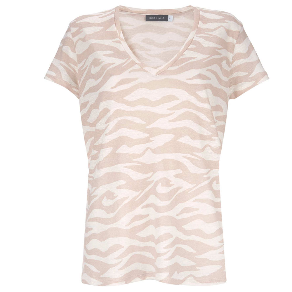 b2bdf84d2ae6 Mint Velvet Neutral Zebra Print T-Shirt | Tops | Tops | Jarrolds ...