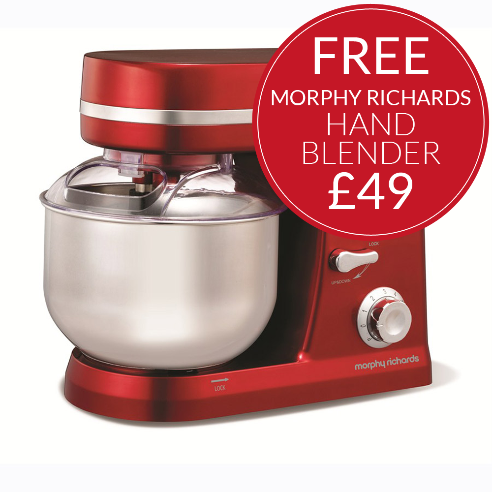Hand Food Mixer ~ Morphy richards accents food mixer red plus free hand