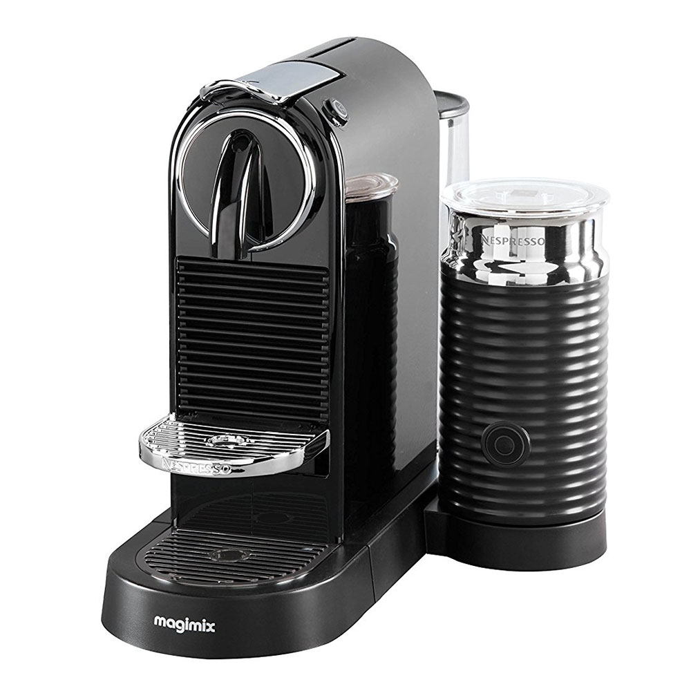 magimix nespresso black citiz milk coffee machine with aeroccino jarrold norwich. Black Bedroom Furniture Sets. Home Design Ideas