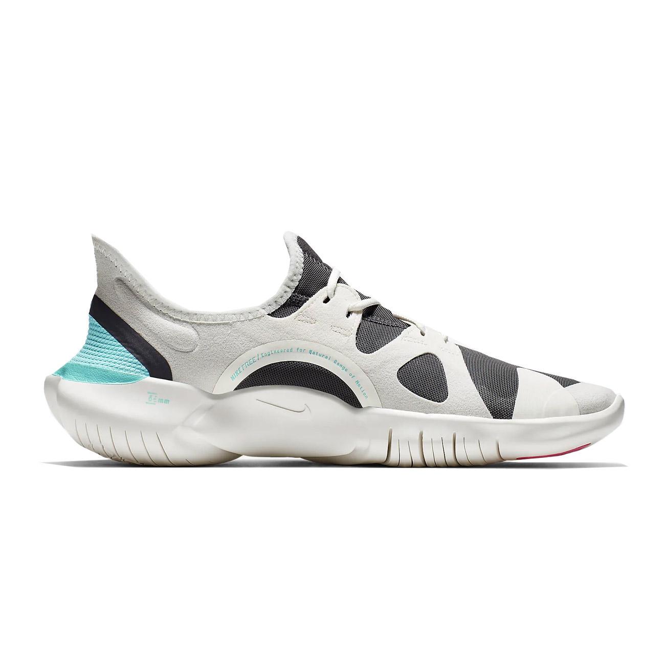 new arrival f150b b0ea7 Nike Womens Free RN 50 Running Shoe Sail Volt Thunder